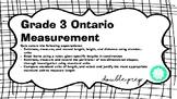 Grade 3 Ontario Measurement Quiz