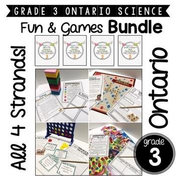 Grade 3 Ontario Science   Fun & Games   BUNDLE! ALL 4 STRANDS!
