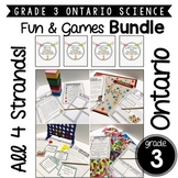 Grade 3 Ontario Science | Fun & Games | BUNDLE! ALL 4 STRANDS!