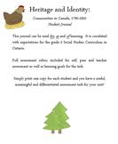 Grade 3 Ontario Social Studies:  Communities in Canada 1780-1850