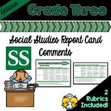 Grade 3 Ontario Social Studies Report Card Comments