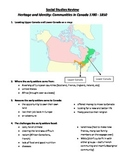 Grade 3 Ontario Test and Review: Communities in Canada 1780-1850