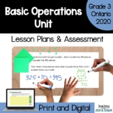 Operations - COMPLETE UNIT (Grade 3 Ontario Math 2020)