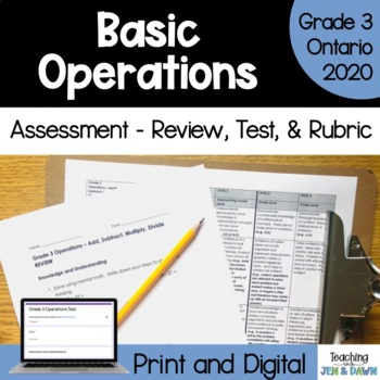 Grade 3 Operations Review, Test, Rubric