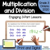 Grade 3 Operations Three Part Lesson Multiplying 1-Digit Numbers