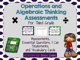 Operations and Algebraic Thinking Assessment Bundle