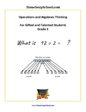 """Grade 3 CCS """"Operations and Algebraic Thinking"""" For Gifted and Talented Students"""