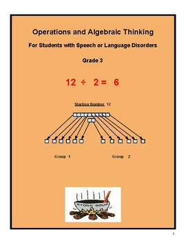 """Grade 3 """"Algebraic and Learning to Share"""" students w/ Speech & Language Disorder"""