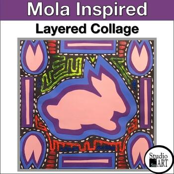 Grade 3 Panama Molas Collage Lesson