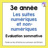 Grade 3 Patterning Test (French)