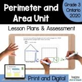 Perimeter and Area - Complete Unit (Grade 3 Ontario)