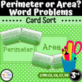 Grade 3 - Perimeter and Area Word Problems - Task Cards