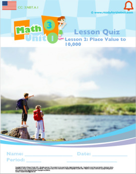 Grade 3:Math:Place Value,Rounding,Add&Sub:L2Place Value to 10,000 Quiz3.NBT.A.1