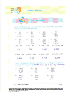 Grade3:Math:PlaceValue,Rounding,Add&Sub:L3:Addition Worksheet 3.NBT.A.2 3.OA.D.8