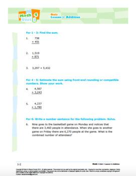 Grade 3: Math: Place Value, Rounding, Add & Sub: Quiz Bundle
