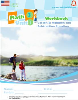Grade 3:Math Place Value Rounding L5Add & Sub Equat Worksheet 3.NBT.A.1 3.OA.D.8