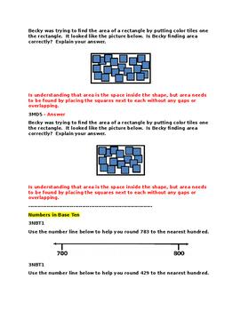 Grade 3 Pre and Post Assessment Samper