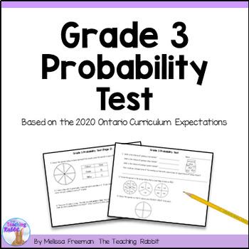Grade 3 Probability Test (Ontario Curriculum)