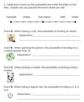 Grade 3 Probability Unit Test