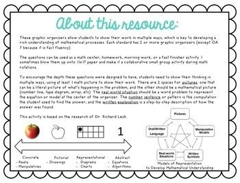 Grade 3 Problem Solving Lesh Mats