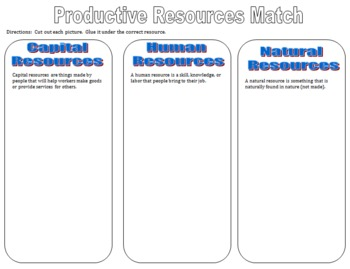 Grade 3 Productive Resources Cut And Paste By The Teacher Spot Tpt