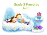 Grade 3 Proverbs
