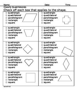 Grade 3 Quardrilaterals