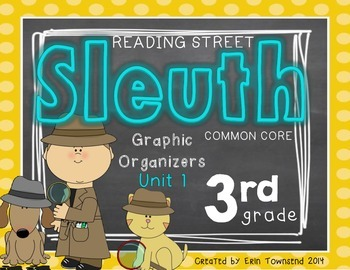 Grade 3 Reading Street SLEUTH Unit 1 Week 1 FREEBIE