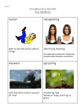 Grade 3 Reading Street Vocabulary Words with Visuals, Unit 3, Weeks 1-5 Bundle