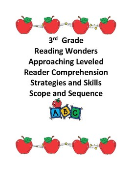 Reading Wonders Grade 3 Approaching Level Comprehension Scope and Sequence