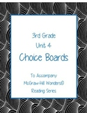 Grade 3 Reading Wonders Choice Boards Unit 4