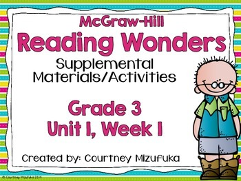 Reading Wonders Grade 3 {Unit 1, Week 1}