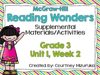 Reading Wonders Grade 3 {Unit 1, Week 2}