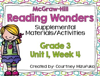 Reading Wonders Grade 3 {Unit 1, Week 4}