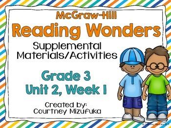 Reading Wonders Grade 3 {Unit 2, Week 1}