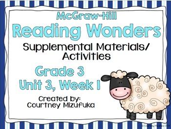 Reading Wonders Grade 3 {Unit 3, Week 1}