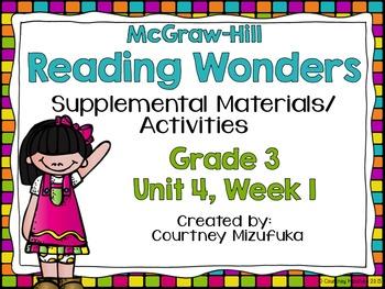 Reading Wonders Grade 3 {Unit 4, Week 1}