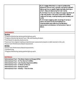 Grade 3 Ready Gen Curriculum Map Unit 1 Module B