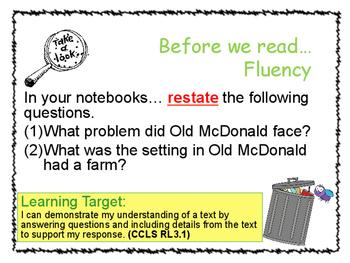 Grade 3 Ready Gen - Gasping Garbage & Lemonade War Lesson RL3.1 and RL3.3