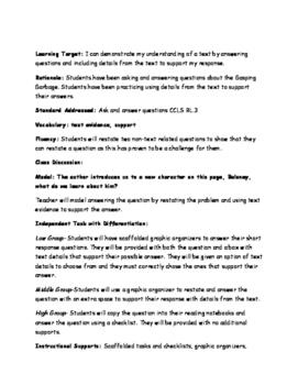 Grade 3 Ready Gen - Gasping Garbage & Lemonade War Lesson
