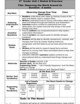 Grade 3 Ready Gen Overview  Unit 1B  revised