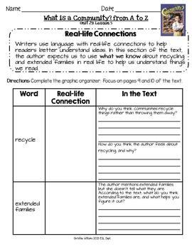 Grade 3 ReadyGen Unit 2 Module B Comprehension & Reading A
