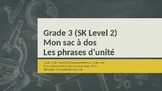 Grade 3 (SK Level 2) Core French My Backpack Unit Phrases: