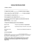 Grade 3 Science (Forces - Ontario Curriculum) Test Review