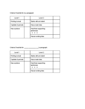 Grade 3 Science Paragraph Assignment