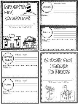 Grade 3 Science - Personal Word Wall Bundle