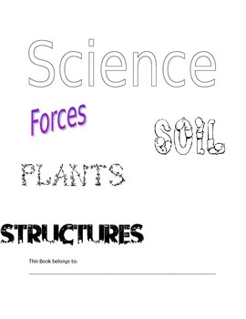 Grade 3 Science Title Page BLM
