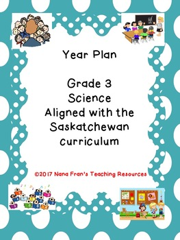 Grade 3 Science Year Plan Aligned with Saskatchewan Outcomes