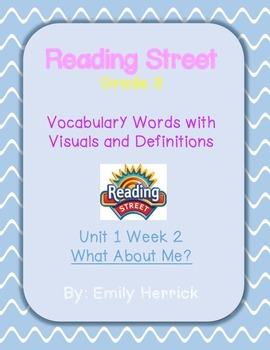 Grade 3 Scott Foresman Reading Street Vocabulary with Visuals, Unit 1 Week 2