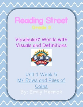 Grade 3 Scott Foresman Reading Street Vocabulary with Visuals, Unit 1 Week 5